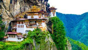 Ein Tempel in Bhutan.