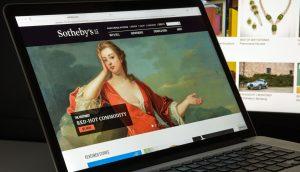 Sotheby's Website zeigt digitales Gemälde