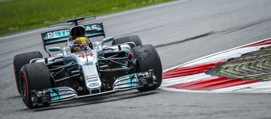 Formel-1-Auto von Mercedes.