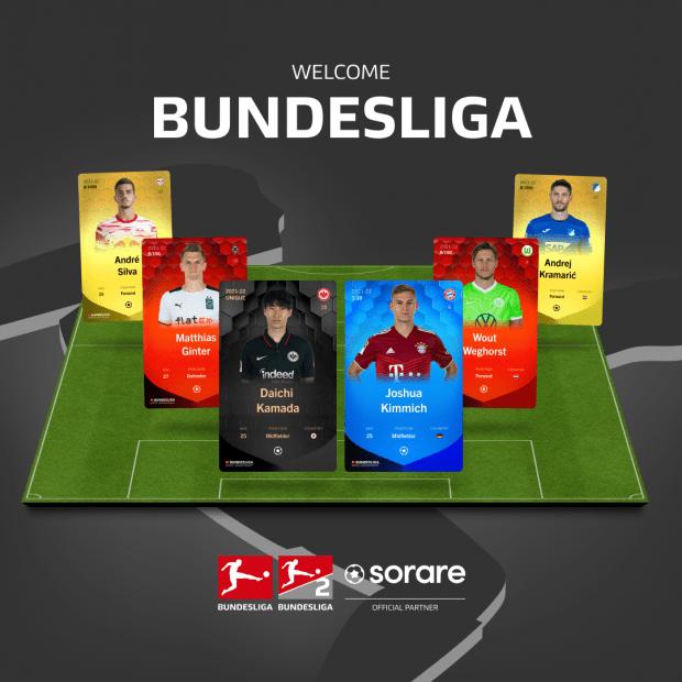 Bundesliga Sammelkarten auf digitalem Spielfeld