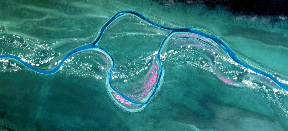 Luftbild Flussaufnahme