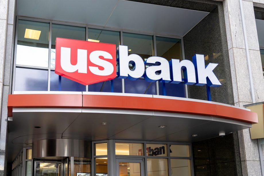 US Bank steht an einem Gebäude