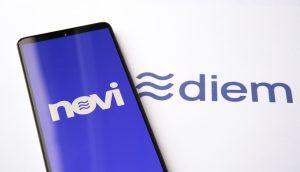ein Telefon mit Novi auf einer Unterlage mit Diem
